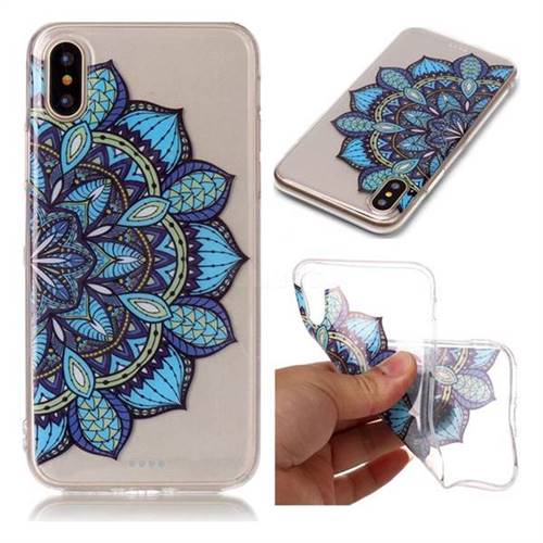 Peacock flower Super Clear Soft TPU Back Cover for iPhone X(5.8 inch)