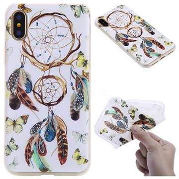 Color Wind Chimes 3D Relief Matte Soft TPU Back Cover for iPhone X(5.8 inch)