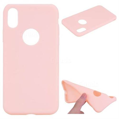 Pink Candy Soft TPU Back Cover for iPhone X(5.8 inch)