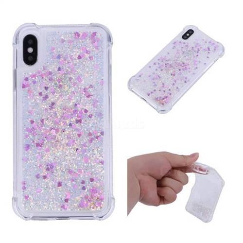 Dynamic Liquid Glitter Sand Quicksand Star TPU Case for iPhone X(5.8 inch) - Rose