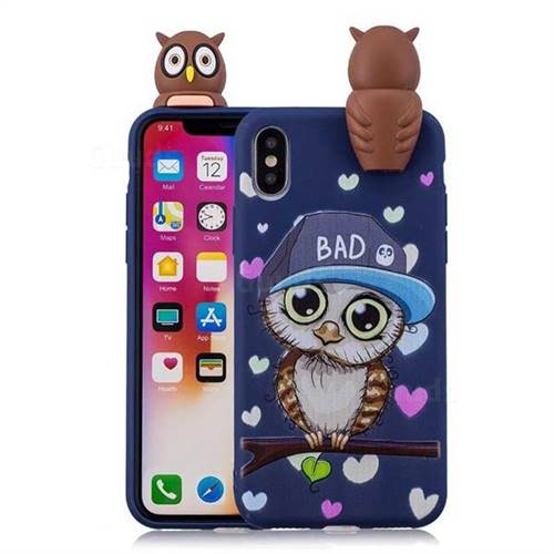 Bad Owl Soft 3D Climbing Doll Soft Case for iPhone X(5.8 inch)