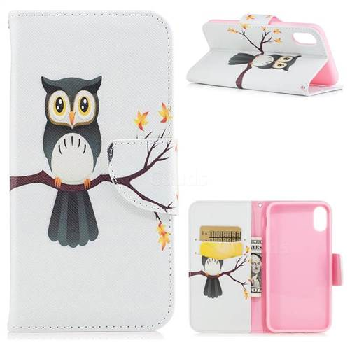Owl on Tree Leather Wallet Case for iPhone X(5.8 inch)