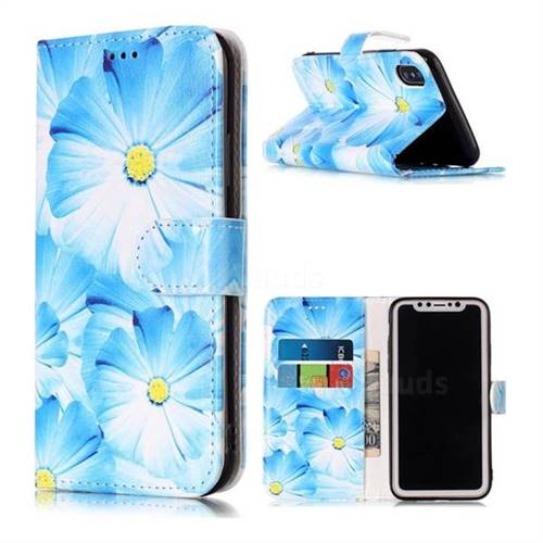 Orchid Flower PU Leather Wallet Case for iPhone X(5.8 inch)