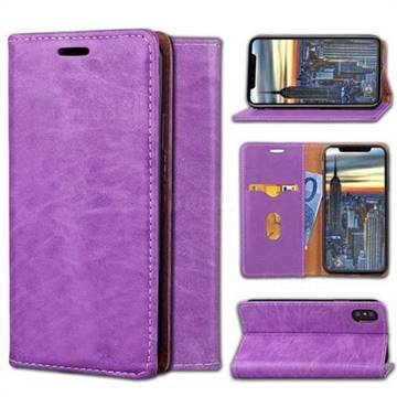 Multi Function Phone Magnetically Holster Case for iPhone X - Purple