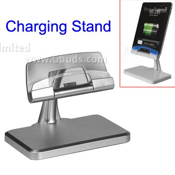 multi functional charging stand with blue light for ipad 3 ipad 2 ipad iphone 4s iphone. Black Bedroom Furniture Sets. Home Design Ideas