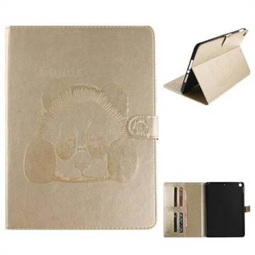 Embossing 3D Panda Leather Wallet Case for iPad Pro 9.7 2017 9.7 inch - Champagne