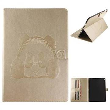Embossing 3D Panda Leather Wallet Case for iPad Pro 10.5 - Champagne