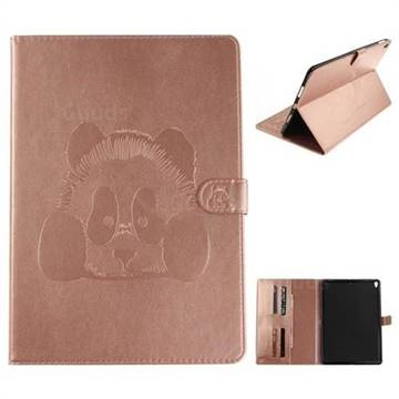 Embossing 3D Panda Leather Wallet Case for iPad Pro 10.5 - Pink