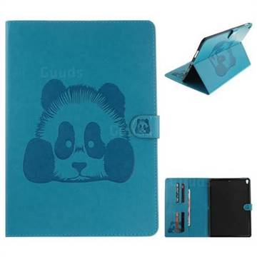 Embossing 3D Panda Leather Wallet Case for iPad Pro 10.5 - Blue