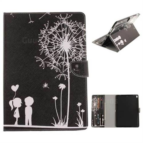Black Dandelion Painting Tablet Leather Wallet Flip Cover for iPad Pro 10.5