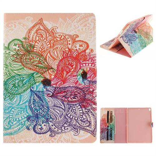 Magic Flower Painting Tablet Leather Wallet Flip Cover for iPad Pro 10.5