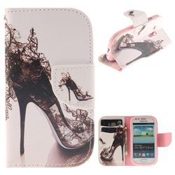 High Heels PU Leather Wallet Case for Samsung Galaxy S3 Mini i8190