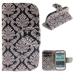 Totem Flowers PU Leather Wallet Case for Samsung Galaxy S3 Mini i8190