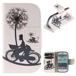 Cycling Dandelion PU Leather Wallet Case for Samsung Galaxy S3 Mini i8190