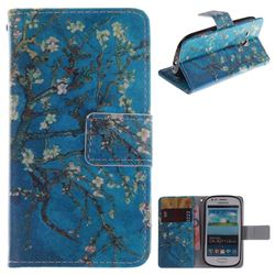Apricot Tree PU Leather Wallet Case for Samsung Galaxy S3 Mini i8190