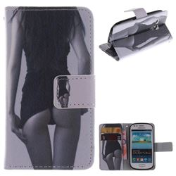 Sexy Girls PU Leather Wallet Case for Samsung Galaxy S3 Mini i8190