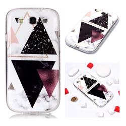 Four Triangular Soft TPU Marble Pattern Phone Case for Samsung Galaxy S3