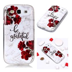 Rose Soft TPU Marble Pattern Phone Case for Samsung Galaxy S3
