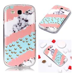 Diagonal Grass Soft TPU Marble Pattern Phone Case for Samsung Galaxy S3