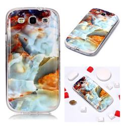 Fire Cloud Soft TPU Marble Pattern Phone Case for Samsung Galaxy S3