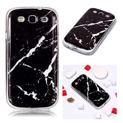 Black Rough white Soft TPU Marble Pattern Phone Case for Samsung Galaxy S3