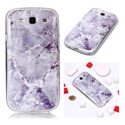 Light Gray Soft TPU Marble Pattern Phone Case for Samsung Galaxy S3