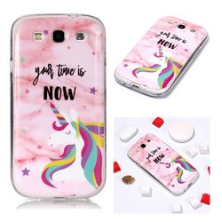 Unicorn Soft TPU Marble Pattern Phone Case for Samsung Galaxy S3
