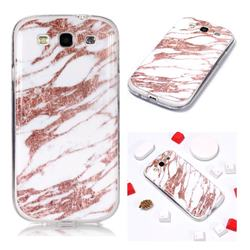 Rose Gold Grain Soft TPU Marble Pattern Phone Case for Samsung Galaxy S3