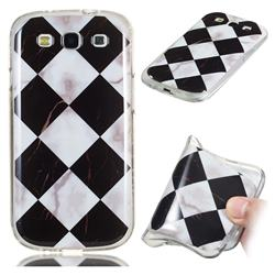 Black and White Matching Soft TPU Marble Pattern Phone Case for Samsung Galaxy S3