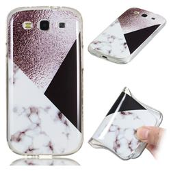 Black white Grey Soft TPU Marble Pattern Phone Case for Samsung Galaxy S3