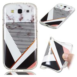 Pinstripe Soft TPU Marble Pattern Phone Case for Samsung Galaxy S3