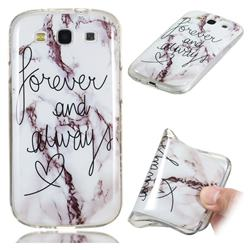 Forever Soft TPU Marble Pattern Phone Case for Samsung Galaxy S3