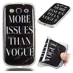 Stylish Black Soft TPU Marble Pattern Phone Case for Samsung Galaxy S3