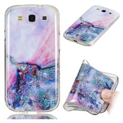 Purple Amber Soft TPU Marble Pattern Phone Case for Samsung Galaxy S3