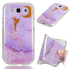 Elf Purple Soft TPU Marble Pattern Phone Case for Samsung Galaxy S3