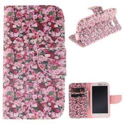 Intensive Floral PU Leather Wallet Case for Samsung Galaxy S3