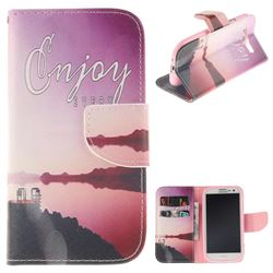 Seaside Scenery PU Leather Wallet Case for Samsung Galaxy S3