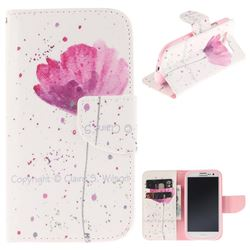 Purple Orchid PU Leather Wallet Case for Samsung Galaxy S3