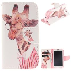 Pink Giraffe PU Leather Wallet Case for Samsung Galaxy S3