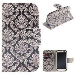 Totem Flowers PU Leather Wallet Case for Samsung Galaxy S3