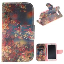 Colored Flowers PU Leather Wallet Case for Samsung Galaxy S3