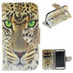 Yellow Tiger PU Leather Wallet Case for Samsung Galaxy S3