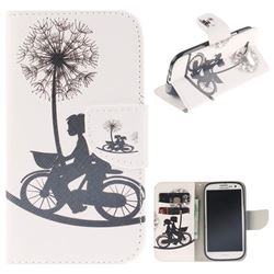 Cycling Dandelion PU Leather Wallet Case for Samsung Galaxy S3