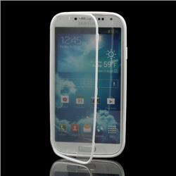 TPU Flip Cover with Transparent PC Screen Cover for Samsung Galaxy S4 i9500 i9502 i9505 - White