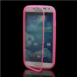 TPU Flip Cover with Transparent PC Screen Cover for Samsung Galaxy S4 i9500 i9502 i9505 - Rose