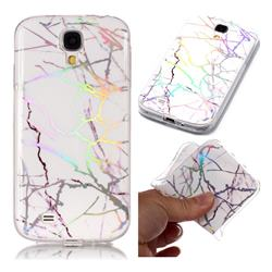 Color White Marble Pattern Bright Color Laser Soft TPU Case for Samsung Galaxy S4