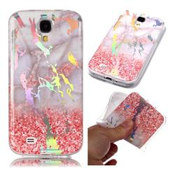 Powder Sandstone Marble Pattern Bright Color Laser Soft TPU Case for Samsung Galaxy S4