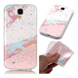 Matching Color Marble Pattern Bright Color Laser Soft TPU Case for Samsung Galaxy S4