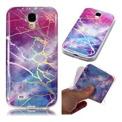 Dream Sky Marble Pattern Bright Color Laser Soft TPU Case for Samsung Galaxy S4