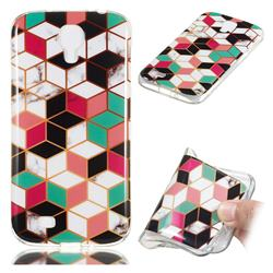 Three-dimensional Square Soft TPU Marble Pattern Phone Case for Samsung Galaxy S4